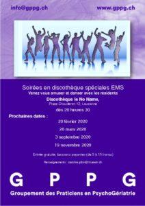 thumbnail of GPPG Soirées discothèque affichette dates 2020