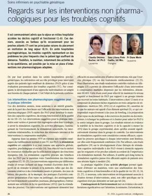Soins infirmiers en psychiatrie gériatrique : Regards sur les interventions non pharmacologiques pour les troubles cognitifs