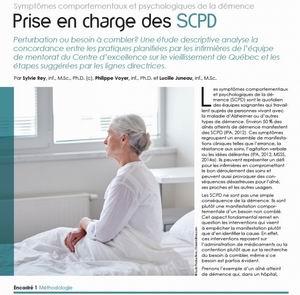 Prise en charge des SCPD