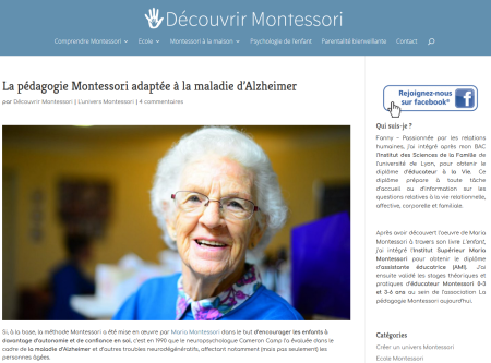 Méthode Montessori Adaptée